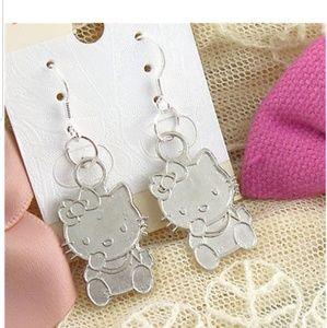 Sterling Silver Cute Kitty Earrings
